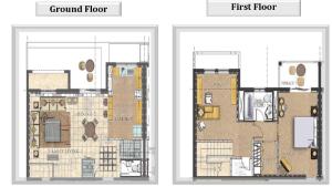 1 bed townhouse floor plans
