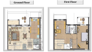 1 bed townhouse floor plans
