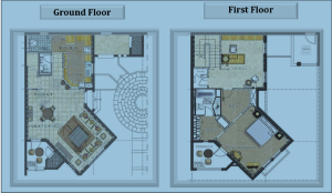 1 bed townhouse floorplan2