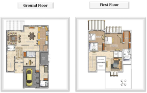 2 Bed Detached floor plan