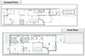 2 Townhouse Floorplans