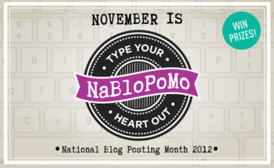 NaBloPoMo – try saying that with a gobful of grapes.
