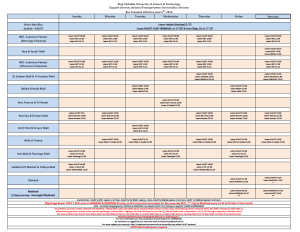 OFF-Campus Bus Time Table