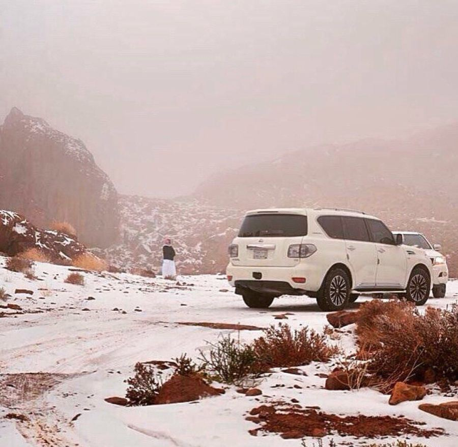 Sandstorms, rainstorms and…snowstorms? The weather in Saudi Arabia.